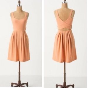 Anthropologie 9h15 stcl Peach Rolo CrossBack Dress